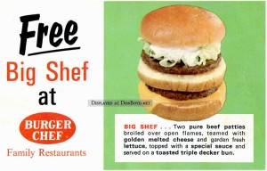 Advertisment for the Big Shef at Burger Chef